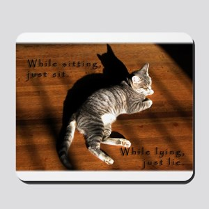 Sit or Lie Tabby Kitten Mousepad