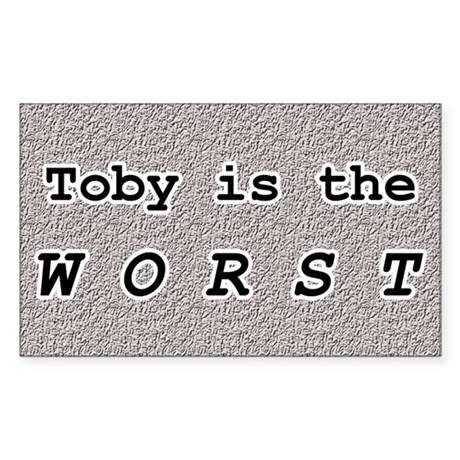 Toby 1.0 Rectangle Sticker