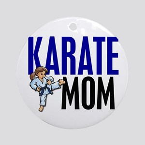 Karate Mom (OF GIRL) 3 Ornament (Round)