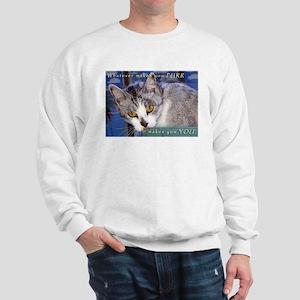 What makes you purr? Sweatshirt