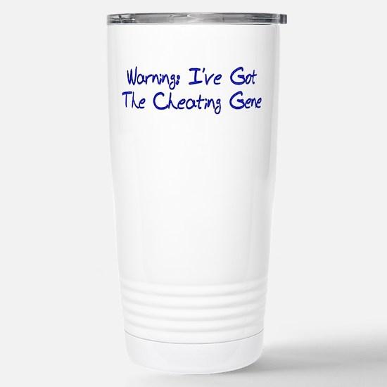 Cheating Gene Stainless Steel Travel Mug