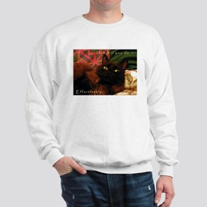 Effortless Black Kitty Sweatshirt