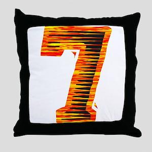 Lucky #7 Throw Pillow