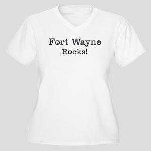 Fort Wayne rocks Women's Plus Size V-Neck T-Shirt