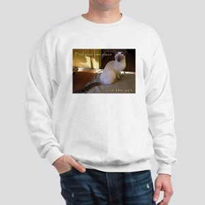 Siamese Sun Kitten Sweatshirt