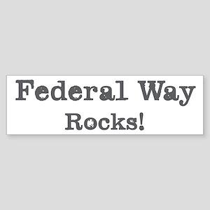 Federal Way rocks Bumper Sticker