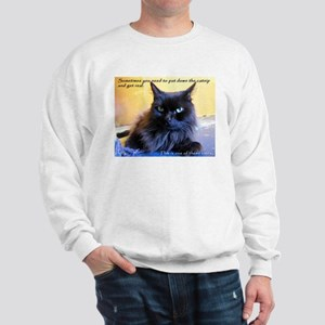 Drop the Catnip and Get Real Sweatshirt