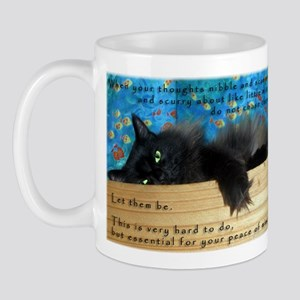 Nibbling Thoughts Black Cat Mug