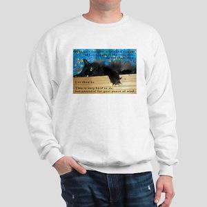 Nibbling Thoughts Black Cat Sweatshirt