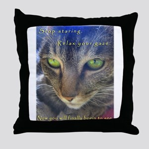 Relax and See Abby Throw Pillow