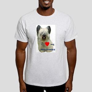 SKYE TERRIER LOVE Ash Grey T-Shirt