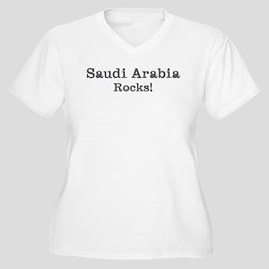 Saudi Arabia rocks Women's Plus Size V-Neck T-Shir
