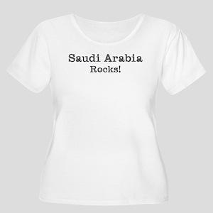 Saudi Arabia rocks Women's Plus Size Scoop Neck T-