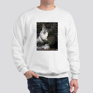 Grey Cat Paws n Claws Sweatshirt