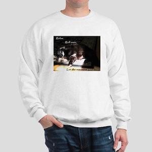 Warm Belly Shaggy Kitty Sweatshirt