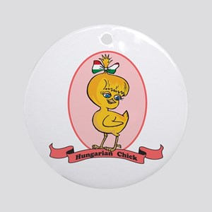 Hungarian Chick Ornament (Round)