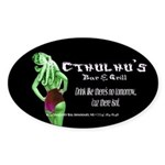 Cthulhu's Bar and Grill Oval Sticker