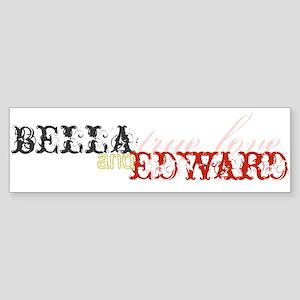 Bella & Edward True Love Bumper Sticker