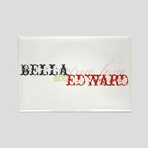 Bella & Edward True Love Rectangle Magnet