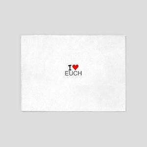 I Love Euchre 5'x7'Area Rug
