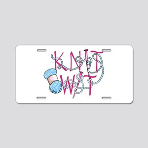 Knit Wit Aluminum License Plate
