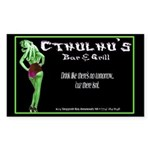 Cthulhu's Bar and Grill Rectangle Sticker