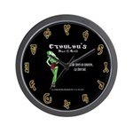 Cthulhu's Bar and Grill Wall Clock