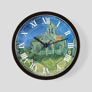 Van Gogh Church Wall Clock