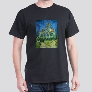 Van Gogh Church Dark T-Shirt