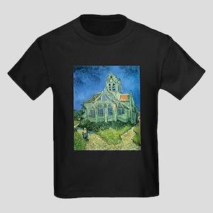 Van Gogh Church Kids Dark T-Shirt