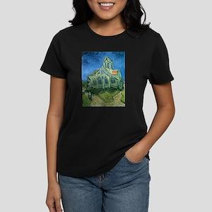 Van Gogh Church Women's Dark T-Shirt