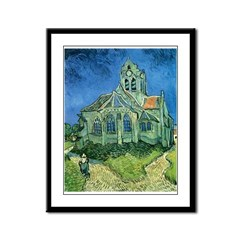 Van Gogh Church Framed Panel Print