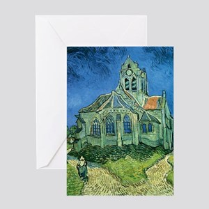 Van Gogh Church Greeting Card