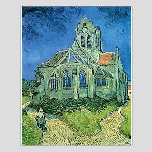 Van Gogh Church Small Poster