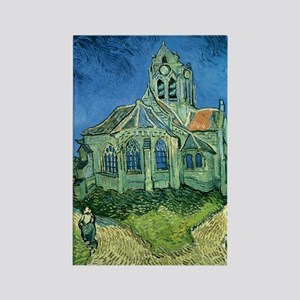Van Gogh Church Rectangle Magnet