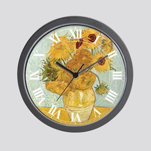 Van Gogh Sunflowers Wall Clock