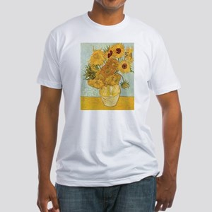 Van Gogh Sunflowers Fitted T-Shirt