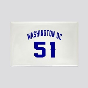 Washington Dc 55 Rectangle Magnet