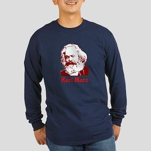 Karl Marx Long Sleeve Dark T-Shirt