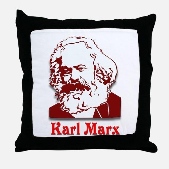 Karl Marx Throw Pillow