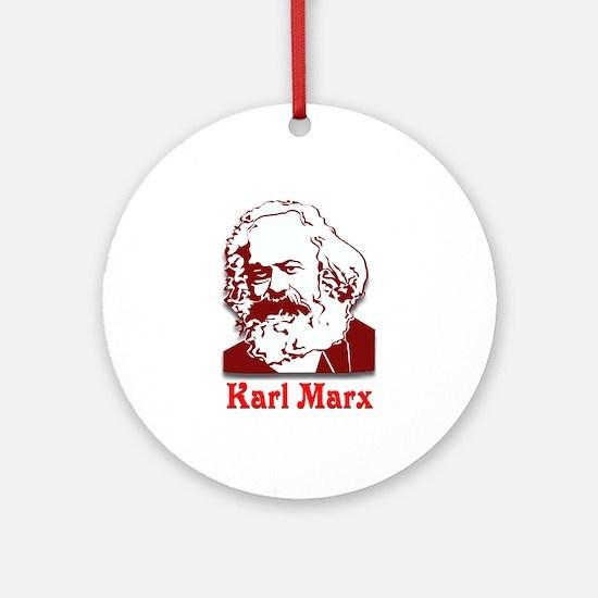 Karl Marx Ornament (Round)