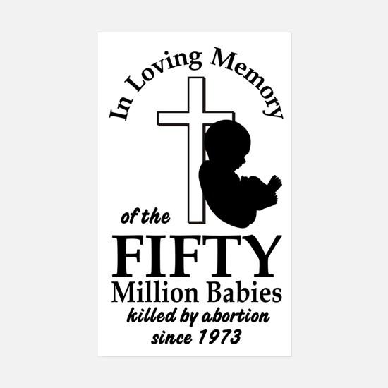 Pro Life - In Loving Memory Rectangle Sticker 10