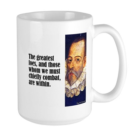 "Cervantes ""Greatest Foes"" Large Mug"