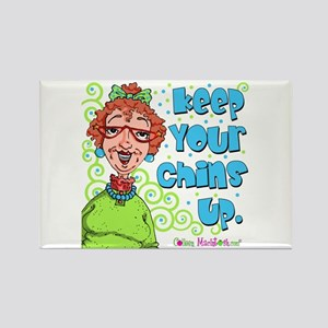 Keep Your Chins Up! Rectangle Magnet