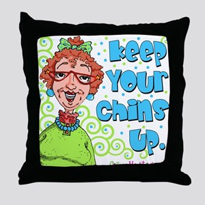 Keep Your Chins Up! Throw Pillow
