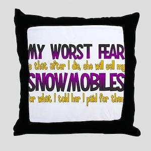 Cheap Snowmobiles Throw Pillow