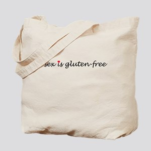 sex is gluten-free Tote Bag