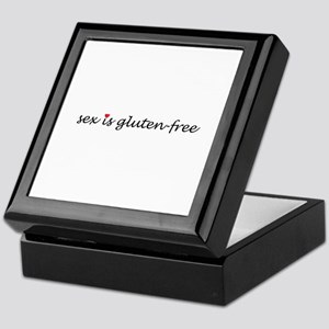 sex is gluten-free Keepsake Box