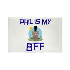 Phil BFF Groundhog Day Rectangle Magnet