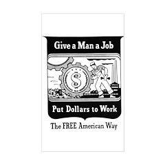 Dollar Job Rectangle Decal